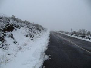 primeras nieves en la subida de la covatilla-Hotel Rural El Balcón del Pueblo