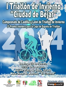cartel triatlon invierno 2014